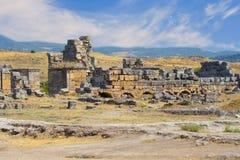 hierapolis fördärvar Arkivbilder