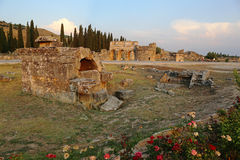 Hierapolis Golden Light Tomb Royalty Free Stock Image