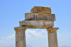 Hierapolis gymnasium Stock Images