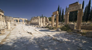 Hierapolis: Hoofdstraat Stock Foto's