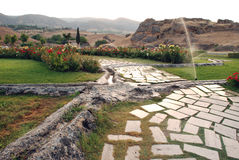 Hierapolis near Pamukkale, Turkey. Park in Hierapolis near Pamukkale, Turkey Royalty Free Stock Images