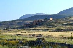 Hierapolis och Pamukkale, Turkiet Fotografering för Bildbyråer