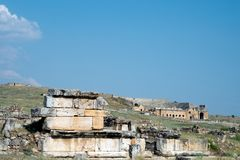 Hierapolis, Pamukkale, Denizli/Турция август 02/2018 стоковая фотография