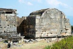 Hierapolis, Pamukkale, Denizli/die Türkei Aug 02/2018 stockbild