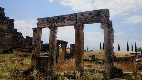 Hierapolis, Pamukkale, die Türkei lizenzfreies stockfoto