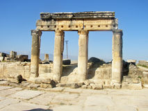 Hierapolis Pamukkale port till helvetet Fotografering för Bildbyråer