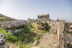 Hierapolis (Pamukkale), Turkey. Ancient necropolis, II century BC - XIV century AD Royalty Free Stock Image