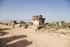 Hierapolis (Pamukkale), Turkey. Burials in the ancient necropolis Royalty Free Stock Photo
