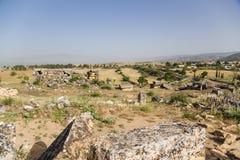 Hierapolis (Pamukkale), Turkey. Landscape with ancient necropolis Royalty Free Stock Image