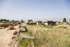 Hierapolis (Pamukkale), Turkey. View of ancient necropolis Stock Photo
