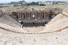 Hierapolis ruins of the ancient city Pamukkale Stock Photos