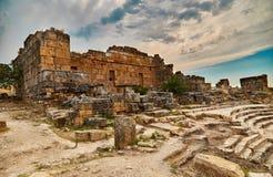 Hierapolis, teatro antiguo Fotos de archivo