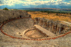 Hierapolis, Theater Stockfoto
