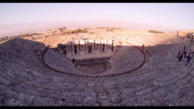 Hierapolis theater, Pamukkale, Denizli. TURKEY. Hierapolis theater, Pamukkale ancient amphitheater stock video