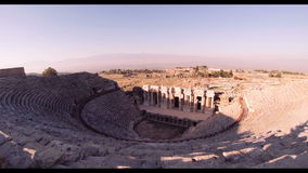 Hierapolis theater, Pamukkale, Denizli. TURKEY. Hierapolis theater, Pamukkale ancient amphitheater stock footage