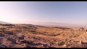 Hierapolis theater, Pamukkale, Denizli. TURKEY. Hierapolis theater, Pamukkale view of the ruins of the city stock video footage