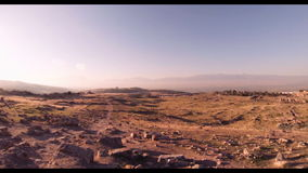 Hierapolis theater, Pamukkale, Denizli. TURKEY. Hierapolis theater, Pamukkale view of the ruins of the city stock video
