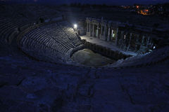 Hierapolis Theatre at Night Stock Photography