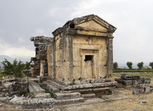 Hierapolis. Tomb in northern necropolis of Hierapolis, Denizli, Turkey. Hierapolis was an ancient Greco-Roman city in Phrygia Royalty Free Stock Image