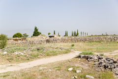 Hierapolis, Turkey. Ancient ruins in the archaeological area Royalty Free Stock Photos