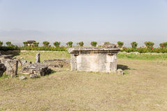 Hierapolis, Turkey. Ancient tomb in the necropolis Royalty Free Stock Image