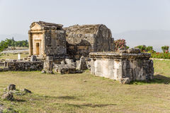 Hierapolis, Turkey. Ancient tombs in the necropolis Royalty Free Stock Images