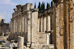 Hierapolis, Turkey. Ancient tombs in the necropolis II - XIX century Stock Photo