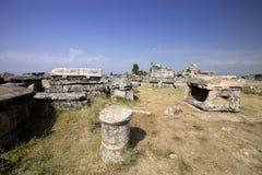 Hierapolis, Turkey. Ancient tombs in the necropolis II - XIX century Royalty Free Stock Photo