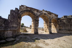 Hierapolis, Turkey. Ancient tombs in the necropolis II - XIX century Royalty Free Stock Image