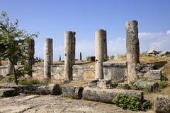 Hierapolis, Turkey. Ancient tombs in the necropolis II - XIX century Stock Image