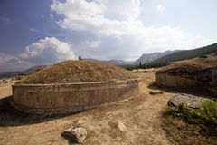 Hierapolis, Turkey. Ancient tombs in the necropolis II - XIX century Royalty Free Stock Photos