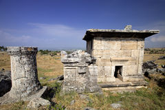 Hierapolis, Turkey. Ancient tombs in the necropolis II - XIX century Royalty Free Stock Images