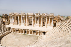 Hierapolis, Turkey. The antique theater, 1 - 4 centuries. BC Royalty Free Stock Photo
