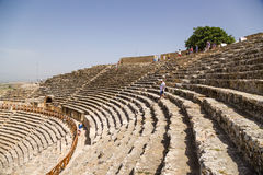 Hierapolis, Turkey. The auditorium of the ancient theater, 1 - 4 centuries AD Stock Images