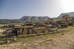 Hierapolis, Turkey. Crypts of the antique necropolis Royalty Free Stock Photos