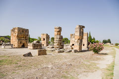 Hierapolis, Turkey. The ruins of ancient buildings Royalty Free Stock Images