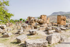 Hierapolis, Turkey. Ruins of the ancient city Royalty Free Stock Image