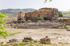 Hierapolis, Turkey. Ruins of the ancient fountain Nymphaeum, II century AD Stock Images