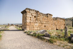 Hierapolis, Turkey. Ruins in the archaeological zone of the necropolis Royalty Free Stock Image
