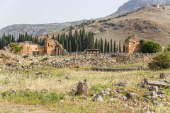 Hierapolis, Turkey. The ruins of the Byzantine Northern gate, IV century AD Royalty Free Stock Photo