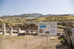 Hierapolis, Turkey. The ruins of the marble portico, the first half of I century AD Stock Image