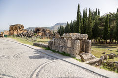 Hierapolis, Turkey. Ruins in the necropolis Stock Photography