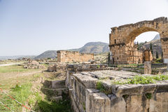 Hierapolis, Turkey. Ruins of the Northern Roman baths, II century AD Stock Photos