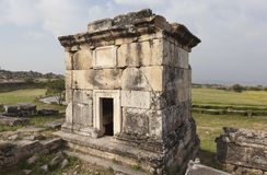 Hierapolis, Turkey. Sarcophagi and crypts in the ruins of the ancient necropolis. Stock Photo