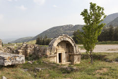 Hierapolis, Turkey. Sarcophagi and crypts in the ruins of the ancient necropolis. Stock Image