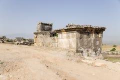 Hierapolis, Turkey. Tombs and sarcophagi in the antique necropolis Royalty Free Stock Photo