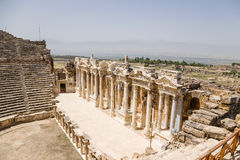 Hierapolis, Turkey. View of the antique Roman theater, 1 - 4 centuries. BC Stock Images