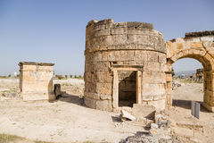 Hierapolis, Turkey. Watchtower and Gateway Domitian, 86-87 years AD. View from the city Stock Photos