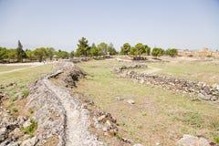 Hierapolis, Turquia Ruínas do abastecimento de água antigo na área arqueológico Fotografia de Stock