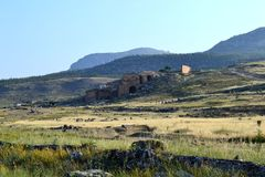 Hierapolis und Pamukkale, die Türkei Stockbild